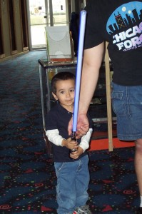This padawan was ready for action.