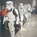 Plenty of troopers on hand to keep the peace.