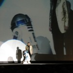 Anthony Daniels made a big hit by coming on stage with R2-D2.