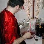 """Dave mixes the first batch of """"Dianoga Dream""""."""