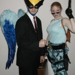 Bird-Man and Lara Croft.