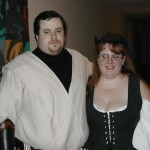 A Jedi and his serving wench.