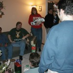 We move upstairs for the Gift Exchange portion of the evening