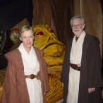 Oddly, their Jedi Mind Tricks didn't work on Jabba.