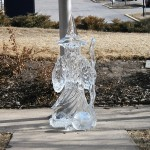 The hotel donated this ice sculpture.  Good thing it was 300 degrees below zero outside.