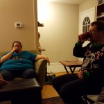 People hydrating, or Mason sneakily turning on the TV?
